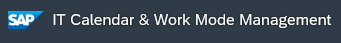 IT calendar and work mode management logo